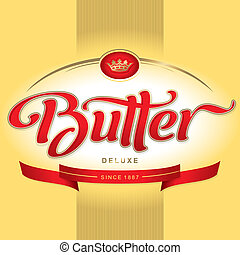 butter packaging design (vector) - butter packaging design,...