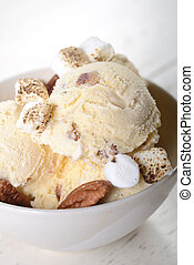 Butter Pecan Ice Cream with toasted pecans and marshmallows...