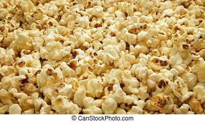 Butter Popcorn Moving Shot - Tracking shot moving slowly...