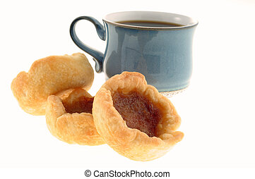 Butter Tarts - Fresh baked butter tarts with a cup of coffee...