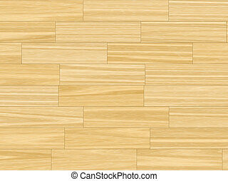 butter yellow parquet flooring - close up
