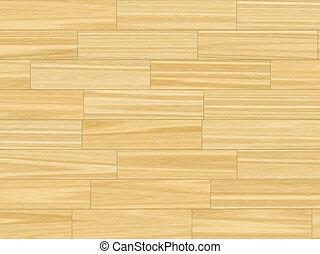 butter yellow parquet flooring - close up