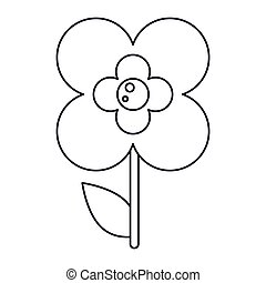 buttercup flower natural outline