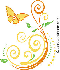 butterflie with leaves.eps