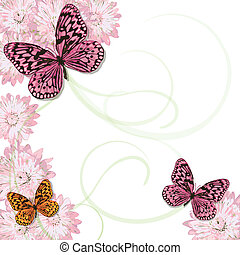 Butterflies and daisies Invitation - Beautiful Butterflies...