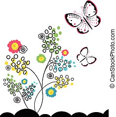 butterflies and flowers 11