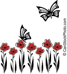 butterflies and flowers 13