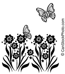 butterflies and flowers 14