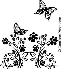 butterflies and flowers 15