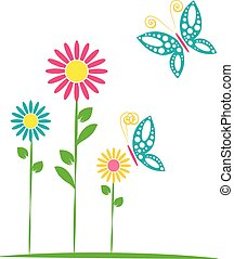 butterflies and flowers 16