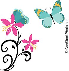 butterflies and flowers 8