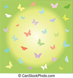 Butterflies animals background.