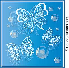 butterflies background 4