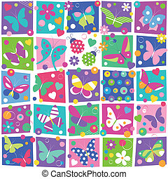 butterflies collection pattern