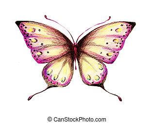 butterflies design - it is drawn