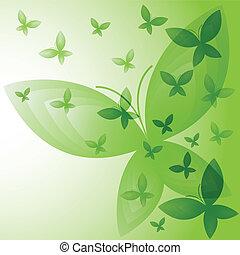 butterflies., experiência verde