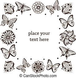 Butterflies frame.