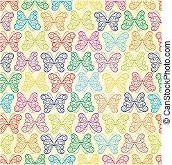 butterflies., fundo
