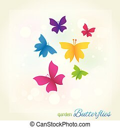 Butterflies garden cover template
