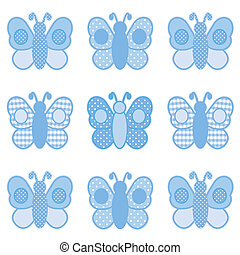 Butterflies, Gingham and Polka Dots