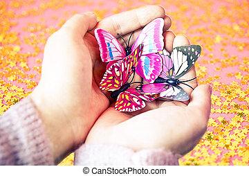 Butterflies in my hand
