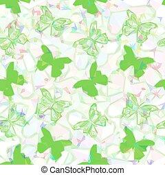 Butterflies Low Poly Pattern