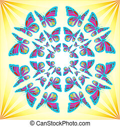 Butterflies Mandala - Colorfull mandala made of butterflies ...