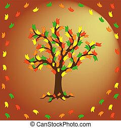 Butterflies on the autumn tree