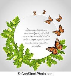 Butterflies Round Frame