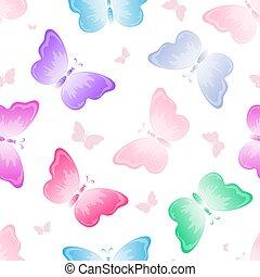 butterflies, seamless background