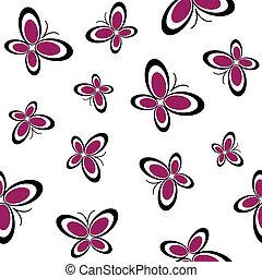 butterflies seamless