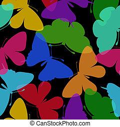 butterflies., seamless, fondo