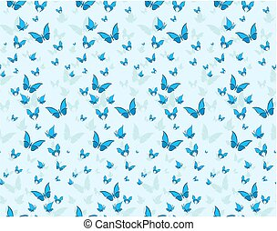 butterflies., seamless, fundo