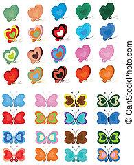 Butterflies set.