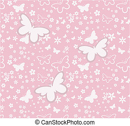 butterflies springtime seamless
