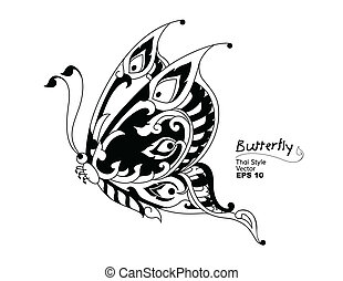 butterflies style line thai