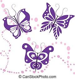 butterflies vector 2
