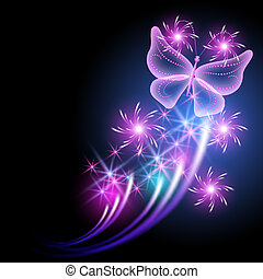 Butterfly and stars