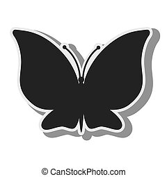 butterfly animal insect wing silhouette