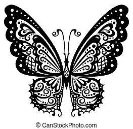 Butterfly - Artistic pattern with butterflies, suitable for...