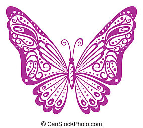 Butterfly - Artistic pattern with butterfly, suitable for a ...