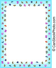 butterfly border with fluttering colors