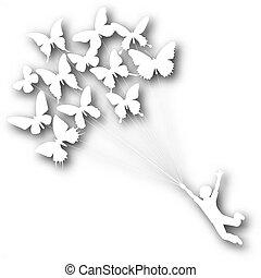 Butterfly boy cutout