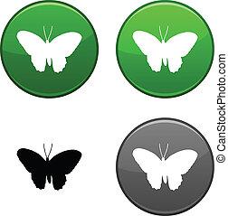Butterfly button.