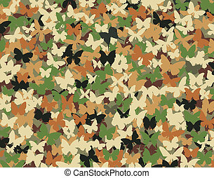 Butterfly camouflage - Background editable vector...
