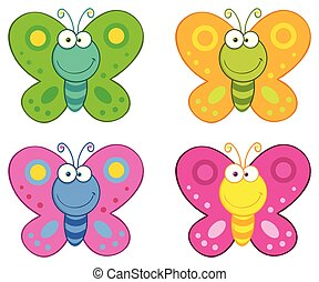 Butterfly Cartoon Character Collection