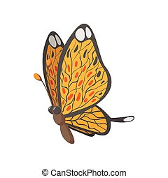 Butterfly cartoon icon