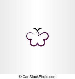 butterfly clipart vector icon illustration