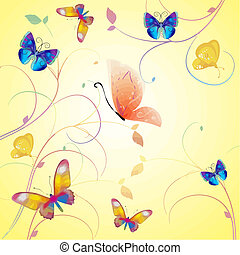 butterfly collection vector - lots of colourful butterflies ...