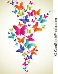 Butterfly colorful splash
